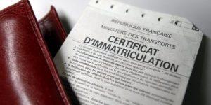 Certificat d'immatriculation Burdignin