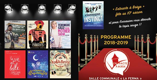Programme 2018-2019 Entracte à Boëge